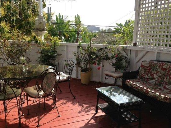 Garden Cottage B & B: terrace view