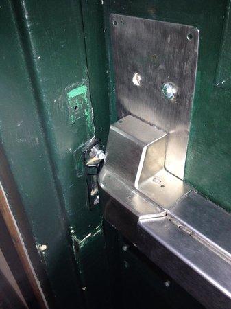 Ramada Huntsville: Damaged entry doors to building two