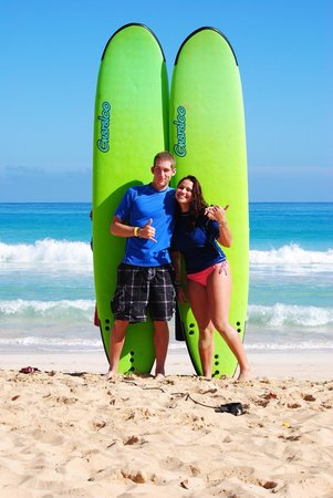 Punta Cana Surf Adventure: Me and my cousin having a blast!
