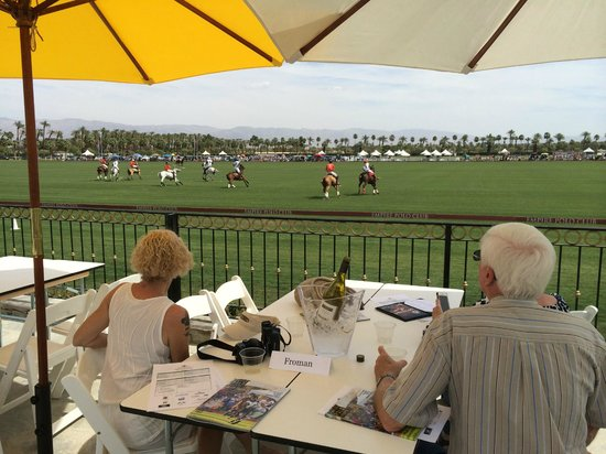 Empire Polo Club: The view from our cabana