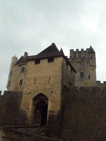 Château de Beynac : La parte central del castillo.