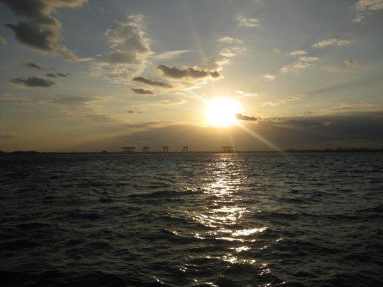 Tropical Sailing: sunset