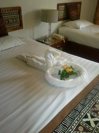 Capricorn Fiji Hotel: Service by Housemaids