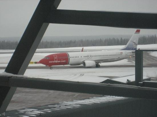 Santa Claus Holiday Village: Norwegian Plane from Helsinki