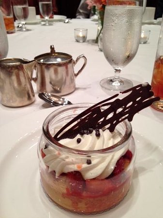 The Ritz-Carlton Reynolds, Lake Oconee: I mean seriously? Strawberry shortcake in an individual dish;the chocolate piece on the top was