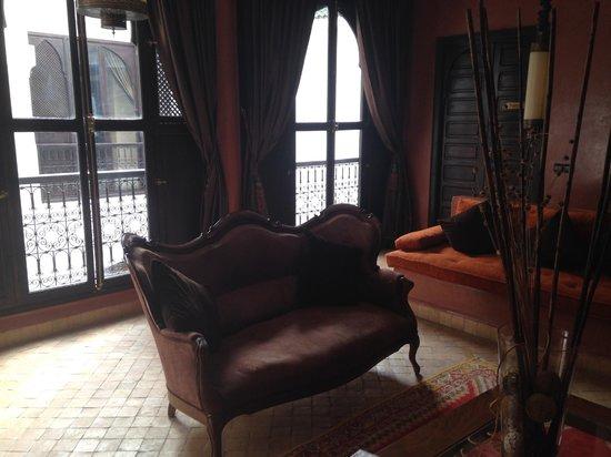 Riad Dar Saad : The upstairs sitting room