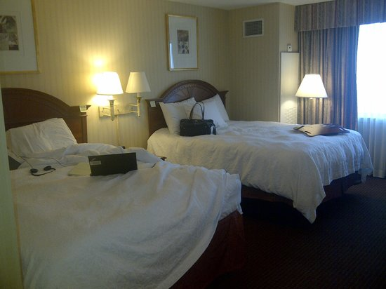 Hampton Inn NY - JFK: White sheets inspire confidence.