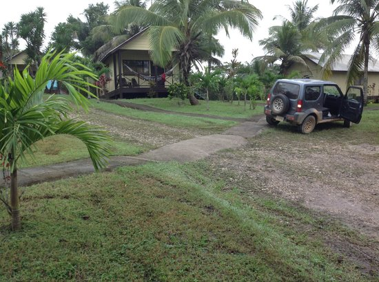 Windy Hill Resort : Our cabana was furthest from the road...our dirty rental parked in front...ready for next advent
