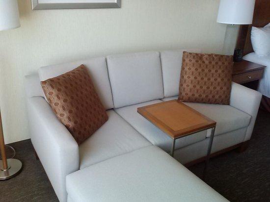 Hilton Garden Inn Portland Downtown Waterfront: lounging area in room