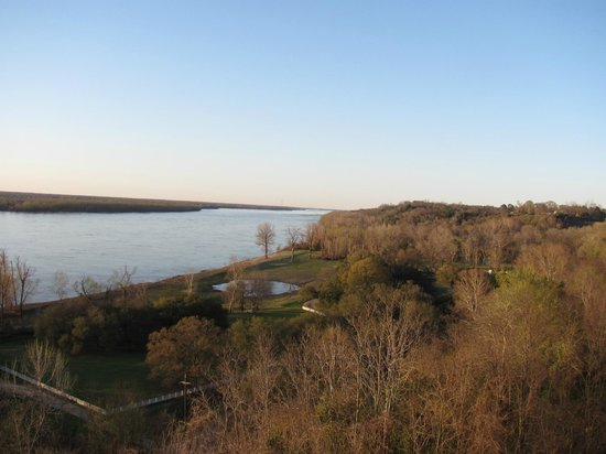 Riverside Bed and Breakfast : View of the Mississippi..dont miss the night view