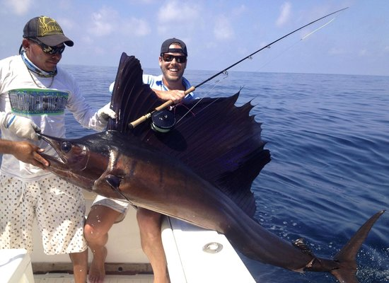 Big Buoy Fishing Charters: first sailfish on fly