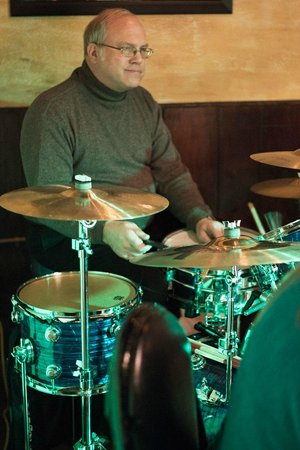 DK Italian Kitchen: Shane on drums with Pat Crawford Jazz Combo