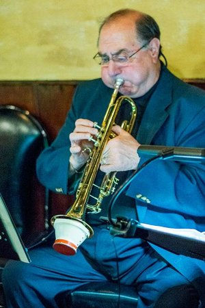 DK Italian Kitchen: Sal plays trumpet with Pat Crawford Jazz Combo at DK's