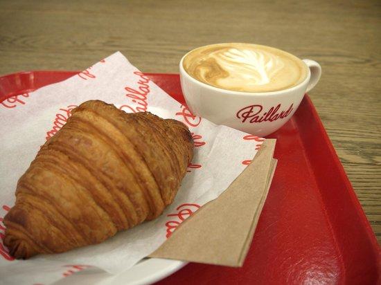 Paillard : croissant and latte