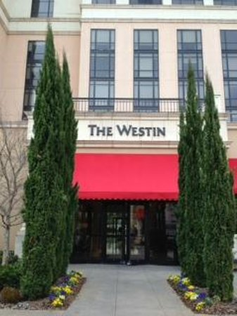 The Westin Huntsville: Back side where courtyard is located