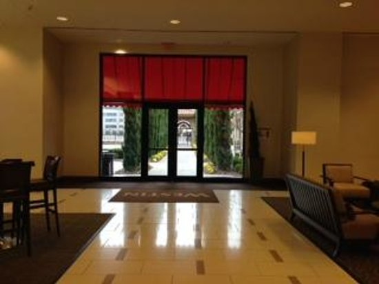 The Westin Huntsville: One of the exits to the courtyard from the lobby