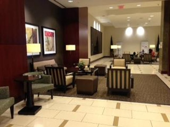 The Westin Huntsville: One of the several sitting areas in the lobby