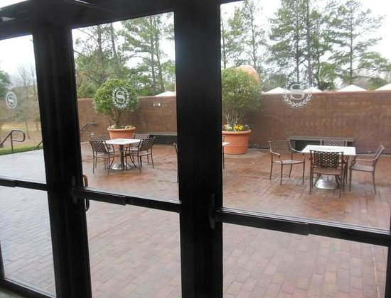 Sheraton Atlanta Airport Hotel: Patio outside of the Mezzanine