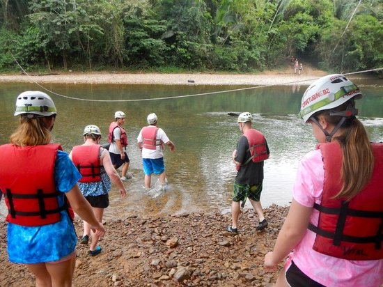 Edwin's Belize Adventure Tours: The hike to where you get into the river for tubing