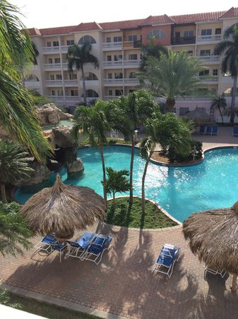 Tropicana Aruba Resort & Casino : Waterfall pool from balcony