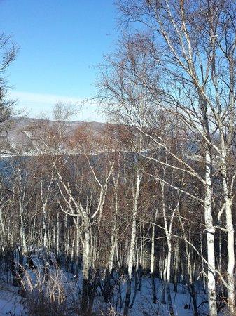 Lake Baikal: Ангара с пика Черсого
