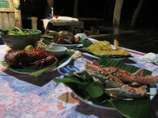 Isla Naburot: dinner for 2