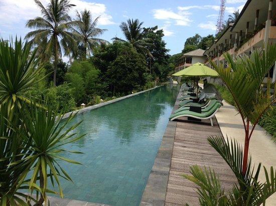 Kebun Villas & Resort: The long main pool