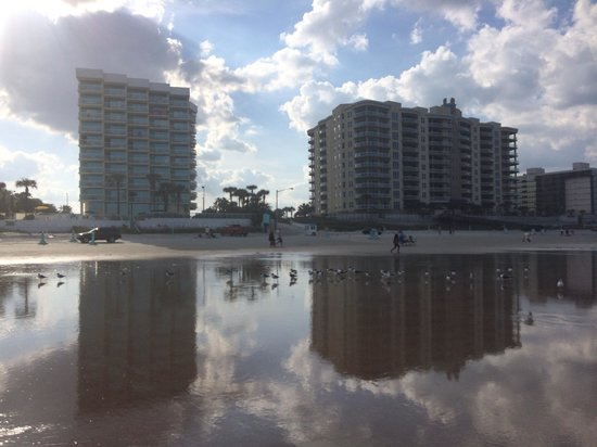 Bahama House: View of the hotel (on the left) from the ocean