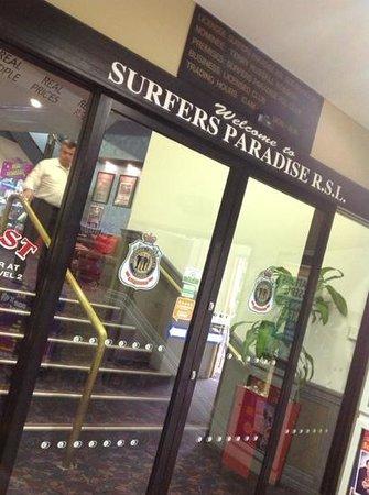 Entrance Picture Of Surfers Rsl Surfers Paradise Tripadvisor