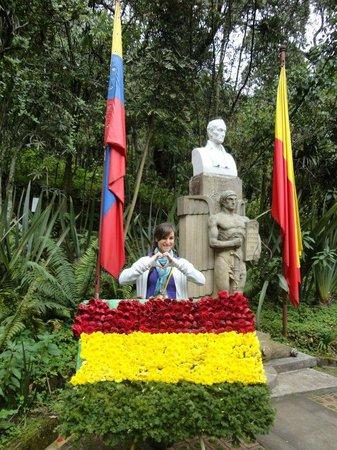 Casa Museo Quinta de Bolivar : Bolivian flag on 6 de agosto