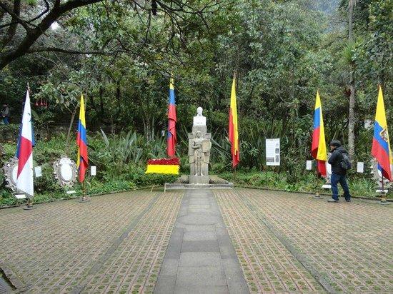 Casa Museo Quinta de Bolivar : flags of countries liberated by Bolivar