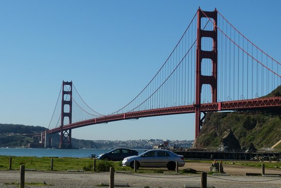 Bay Area Discovery Museum : Beautiful view of the Golden Gate bridge from the museum