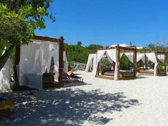 Iberostar Paraiso Beach: lits sur la plage