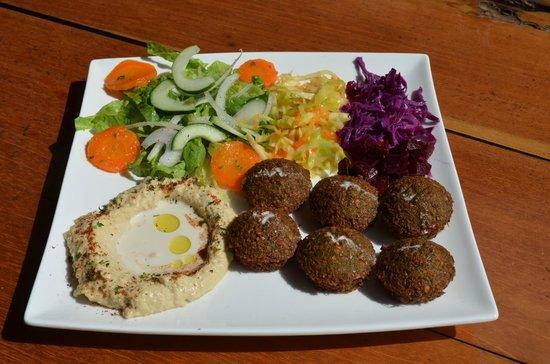 Falafel Bar Medetirenean cusine: vegetarian falafel plate