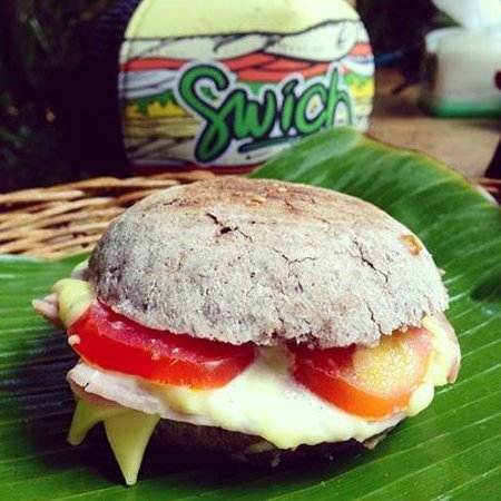 Dupa Drupadi : Gluten Free bread with Ham, Cheese, tomato and there famous mayo