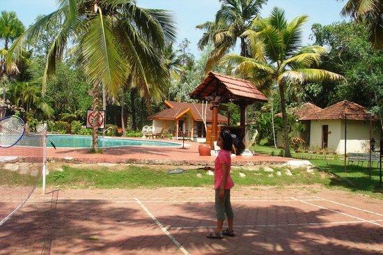 Club Mahindra Kumarakom: Badmington area and Pool side..