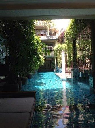 Burasari Resort: from the pool bar