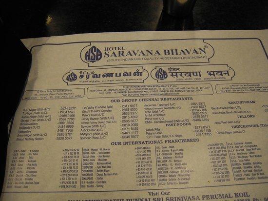 Saravana Bhavan: This Place Is Everywhere