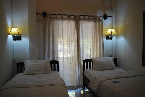 Mekong Moon Inn: เตียงนอนสบาย
