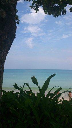 INTERCONTINENTAL Bali Resort : ホテルのプールサイドからです。ビーチが目の前です。