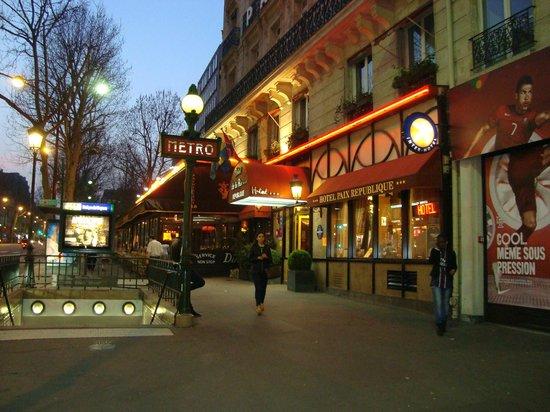 Paix Republique: вход в отель