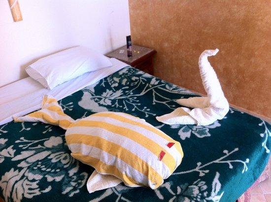 Nile Valley Hotel Restaurant: Altijd leuke verrassing op je kamer :-)