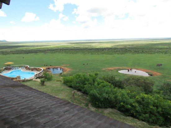 Voi Safari Lodge : vue de la chambre