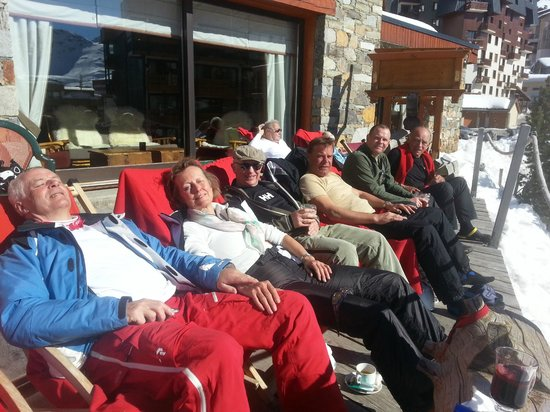 Hotel Le Sherpa - Val Thorens: terrasse