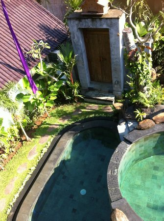 Baruna Sari Villa: View of the 2 pools from the top