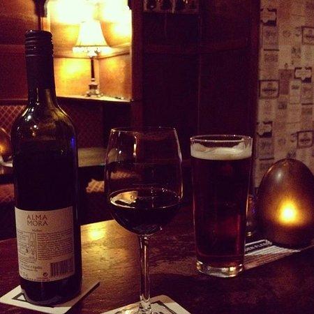 The Golden Fleece Inn: The recommended Malbec.