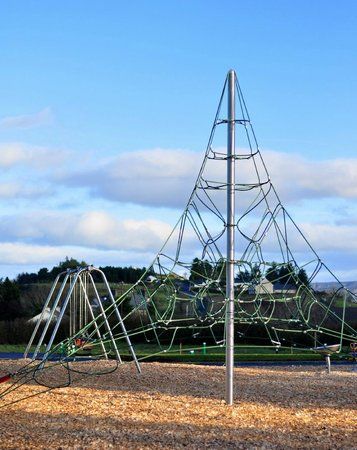 Wild Atlantic Camp : Witches hat climbing frame for big kids