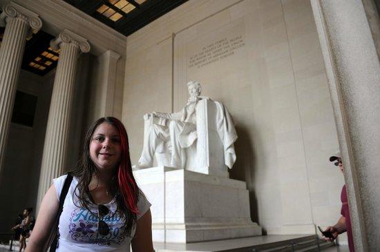 Lincoln Memorial : Me inside The Washington Monument.