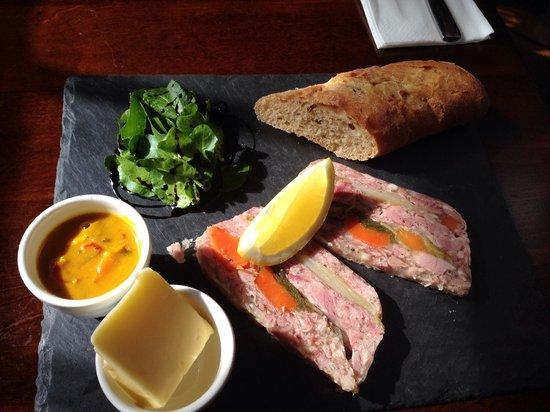 The Plough Inn: Ham Hock Terrine. Fantastic !