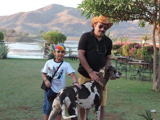 The Jhadol Safari Resort: Starting for 'Trek' with Begum....